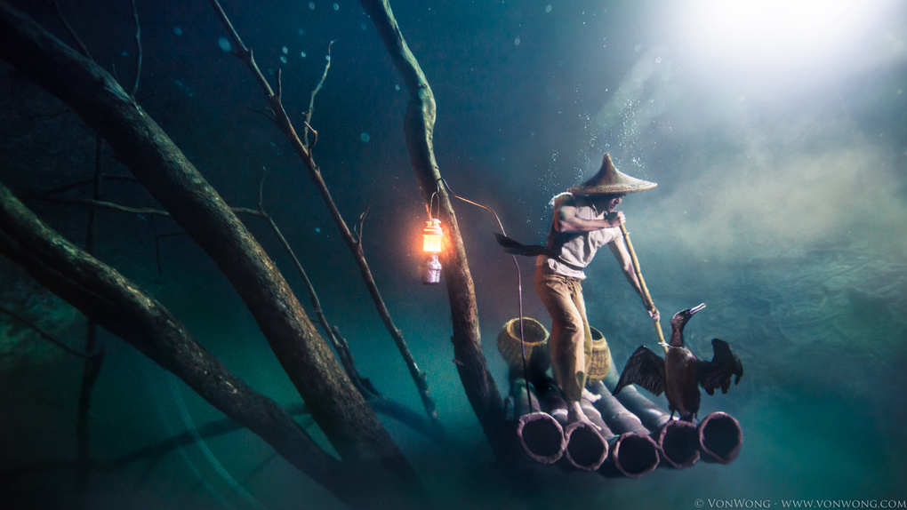 VonWong's Underwater Fisherman in collaboration with Ballentines